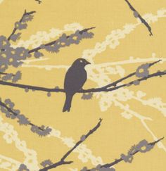 Aviary 2 in Vintage Yellow by Joel Dewberry for FreeSpirit