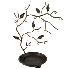 <div>This beautiful, steel jewelry holder looks great on a dresser or vanity. Use your necklaces...