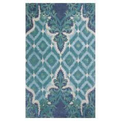 Kas Rugs Bob Mackie Home Blue/Green Opulence 9 ft. x 13 ft. Area Rug