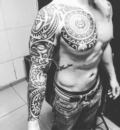Maori Sleeve Tattoo by Realfamilia Tattoo #marquesantattoosmaori #maoritattoos