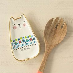 Lick the Bowl Cat Spoon Rest