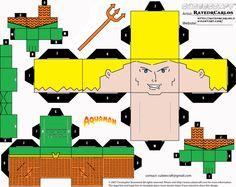 #Cubee #Craft #Fan #Art. (Cubeecraft Aquaman JLA) By: RatedrCarlos. ÅWESOMENESS!!!