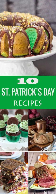 These recipes are a must try, you've got everything here from appetizers, to delicious entrees and irresistible desserts all perfect for St. Patrick's Day.