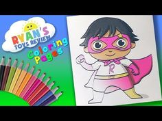Ryan Toysreview Coloring Page Forkids Learn Coloring With Ryan Great Kids Channel Youtube Coloring Pages My Little Pony Characters Rabbit Colors