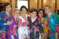 Real life Sample 1 - Bridesmaids Robes made From E10  Fabric Pattern