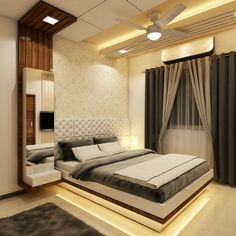 34 The Best Modern Bedroom Furniture To Get Luxury Accent - Furniture for bedroom is ideally a good investment and also enhances the decor of your bedroom. Modern furnishings make your bedroom look elegant and . Bedroom False Ceiling Design, Bedroom Cupboard Designs, Wardrobe Design Bedroom, Luxury Bedroom Design, Master Bedroom Interior, Bedroom Closet Design, Bedroom Furniture Design, Home Room Design, Accent Furniture