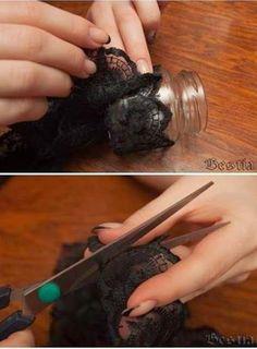 DIY ♡ Faça Você Mesma: Vasinho lindo para o chá de lingerie - Apenas Três Palavras: Sim, Eu Aceito!