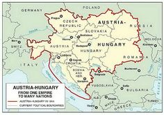 Maps of Vast Empires That No Longer Exist The Austro-Hungarian Empire (or Austria-Hungary, Ap World History, European History, Family History, American History, Austria, Poland Germany, Austro Hungarian, Old Maps, Historical Maps