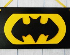 Batman name sign/  black bat cut out
