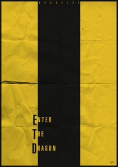 Minimal Movie Poster | Enter The Dragon by Bruce Lee