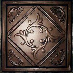 """Anet Antique Copper Black (24x24"""" PVC) Ceiling Tile Antique Ceilings,http://www.amazon.com/dp/B003DV8EWY/ref=cm_sw_r_pi_dp_xy8Qsb06ADT9K94R. Back splash idea"""