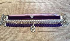 Trachtenarmband, *Violetta von der Alm*, lila von meiTherese auf DaWanda.com