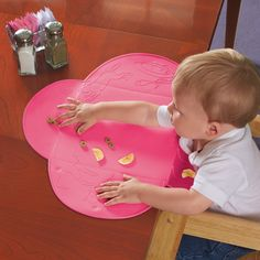 Amazon.com : Summer Infant Tiny Diner Portable Placemat, Pink : Childrens Place Mats : Baby