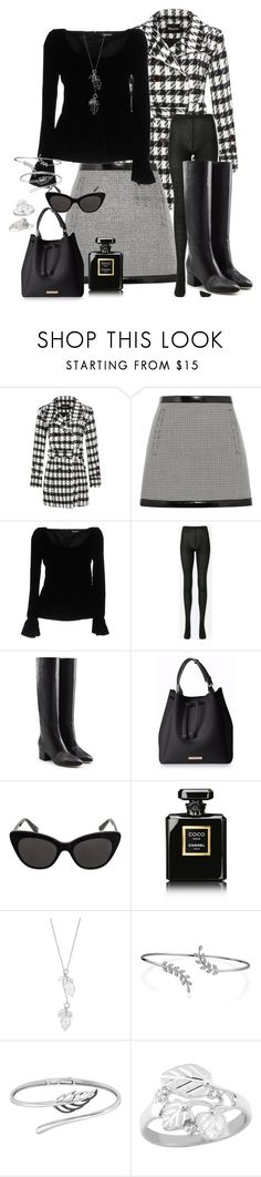 """""""Fall Houndstooth Ensemble"""" by snowflakeunique ❤ liked on Polyvore featuring Philosophy di Lorenzo Serafini, Tom Ford, Uniqlo, Sergio Rossi, Chanel, Bling Jewelry and Express"""
