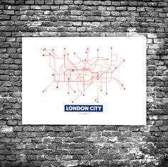 London City C6 - Acrylic Glass Art Subway Maps (Acrylglas, Tube, Underground)