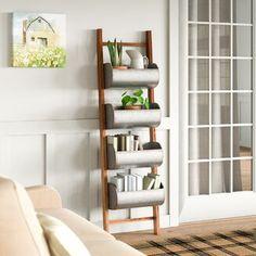 August Grove® 4 ft Blanket Ladder   Wayfair Rustic Ladder, Wood Ladder, Rustic Wood, Ladder Decor, Rustic Chic, Diy Ladder, Shabby Chic, Bathroom Ladder, Ladder Bookshelf