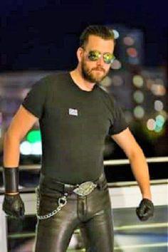gorgeous leather macho
