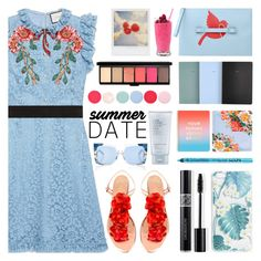"""""""Smokin' Hot: Summer Date Night"""" by barbarela11 ❤ liked on Polyvore featuring Gucci, Charlotte Olympia, RED Valentino, School of Life, Boohoo, Nails Inc., Estée Lauder, Christian Dior, MAC Cosmetics and ban.do"""