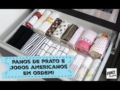 Organize sem Frescuras | Rafaela Oliveira » Arquivos  » Ideias para Organizar os Panos de Prato e Jogos Americanos