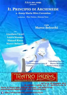 TG Musical e Teatro in Italia: IL PRINCIPIO DI ARCHIMEDE - Regia di Marco Belocch...