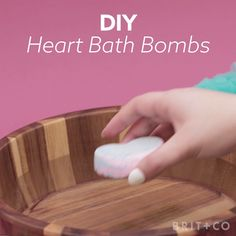 Learn how to make heart bath bombs with this Valentine's Day video beauty DIY tutorial.