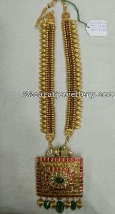 Latest Collection of best Indian Jewellery Designs. Indian Jewellery Design, Gold Jewellery, Indian Jewelry, Jewelry Necklaces, Jewelry Design, Temple Design, 22 Carat Gold, Antique Necklace, Jewelry Patterns