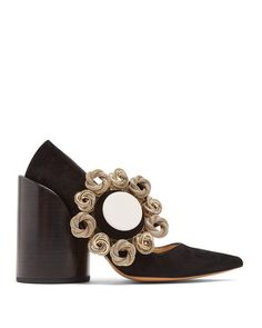 Jacquemus | Black Le Chaussures Boucle Suede Pumps | Lyst