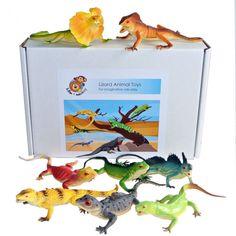 Lizard Reptile Plastic Toys Set of 8