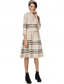 Cute Two Piece Dress Set - Lace Midi Dresses Skirts - $109