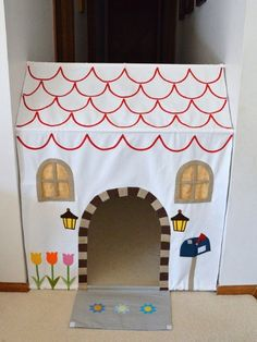Super cute alert: This tension rod trick magically creates a dollhouse where there once was only an empty hallway.
