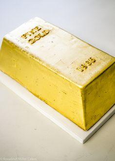 Gold Ingot Celebration Cake by Rosalind MillerCakes - London