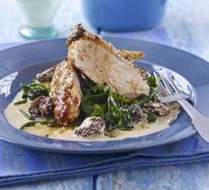 Tasty Recipe: Guinea fowl with morel cream
