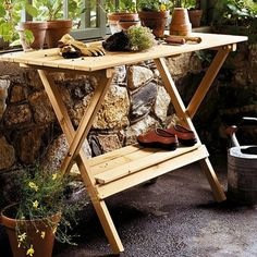 I pinned this Simple Potting Table from the Gorgeous Garden event at Joss & Main!