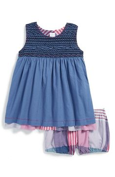 Tea Collection 'Patna' Reversible Sleeveless Dress & Bloomers (Baby Girls)   Nordstrom