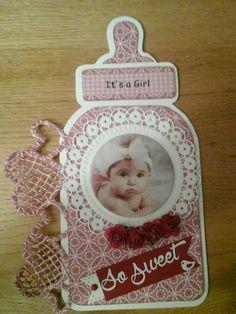 Baby kaart fles dutch doobadoo