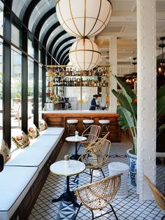 plantation colonial style at cotton house hotel in barcelona | via coco kelley