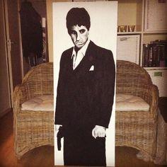 #Tony #Montana #Scarface #Al #Pacino #acrylic #painting