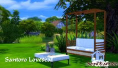 Sims 4 CC's - The Best: Santoro Love Seat by Semi®amide