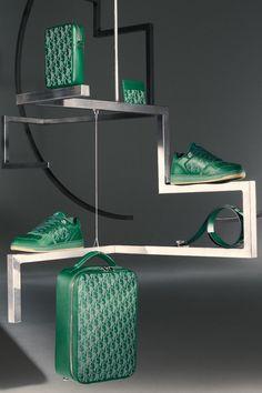 Christian Dior, Sneakers Outfit Men, Stephen Jones, Bowler Hat, Set Design, Dressing Room, Spin, Blue Green, Colorful