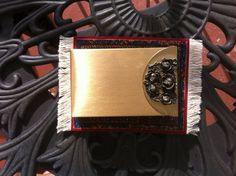 Vintage Metal Cigarette Case Flip Top/ Vintage by Universalideas