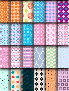 全100種類のパターン!幾何学的なものや和テイストなどさまざまなパターンが揃っているベクターの無料素材