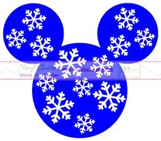 Personalized Snowflake MINNIE or MICKEY Mouse DIY Iron on Decal. $7.00, via Etsy.