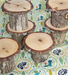 Woodland Party Cupcake Stands by MonkeysOnTheRoof on Etsy, $36.00