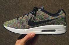 "Nike Air Max 1 Flyknit ""Multicolor"" Customs by Adam Chang 