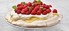 Lemon curd -pavlova, vaniljavispi ja vadelmat | Stockmann Herkku
