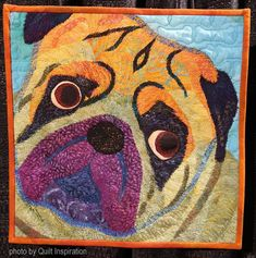 """Dogs are often our best friends, which explains why more than a third of all homes own at least one dog. As the book Marley and Me : says: """". Dog Quilts, Animal Quilts, Marley And Me, International Quilt Festival, Pugs, Diy And Crafts, Best Friends, Drawings, Sarah Ann"""