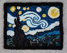 Domino Artist Recreates Van Gogh's 'Starry Night' Using Dominos Mcdonalds, Rug Hooking Kits, Hand Hooked Rugs, Creative Words, Vincent Van Gogh, Famous Artists, Nifty, Artwork, Fun