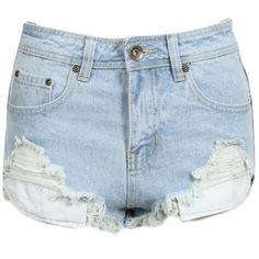 S4 New Womens Light Blue Stone Wash Denim Shorts High Waist Hot Pants Distressed Frayed Hem Ladies Fashion Size 6 8 10 12 14