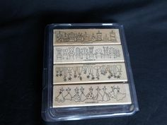 Simply Sweet Wood Mounted Rubber Stamps by by DonnasVintageCrafts