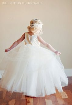 Flower girl dress with romantic tutu skirt Fully by gillygray, $110.00